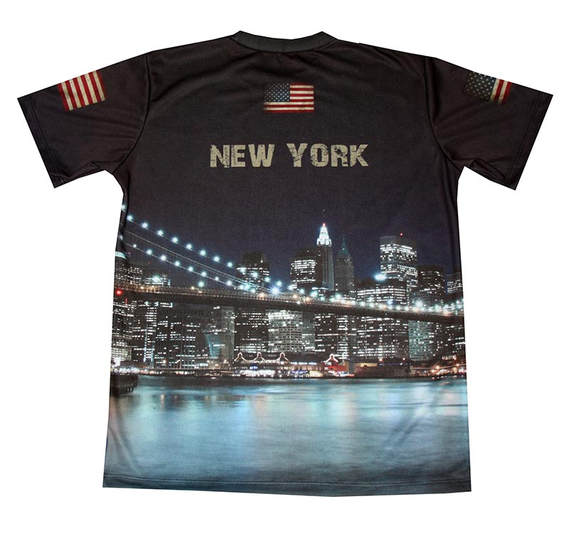 New york t shirt with logo and all over printed picture for New york printed t shirts
