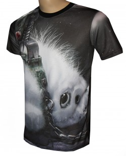 t shirt gothic scared puffy