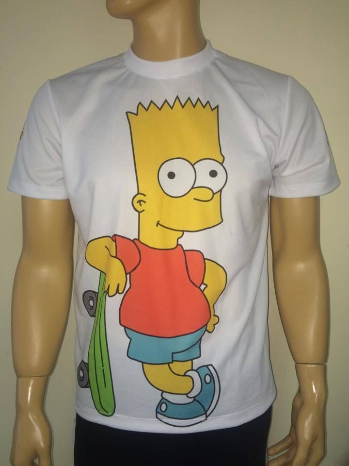 The Simpsons T Shirt With Logo And All Over Printed