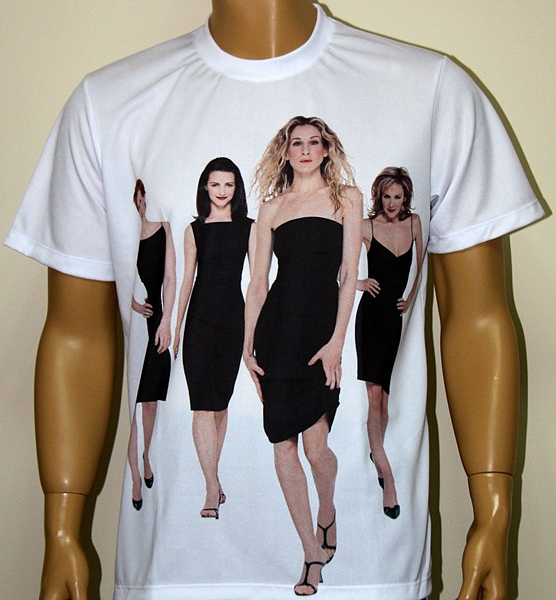 Sex And The City T Shirt With Logo And All Over Printed Picture T