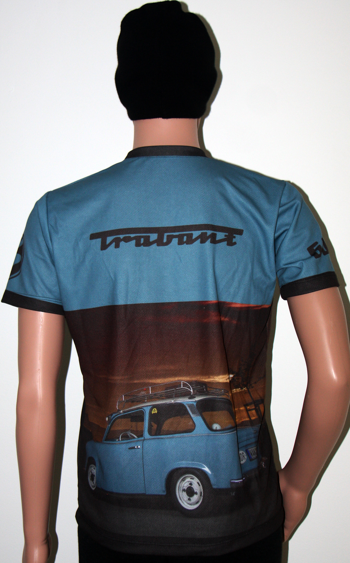 Trabant t-shirt with logo and all-over printed picture - T-shirts with all kind of auto, moto ...