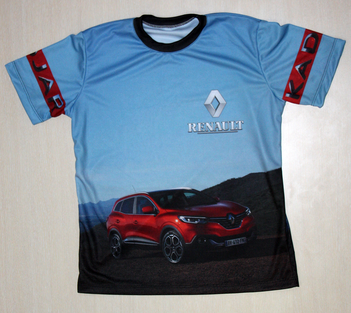 renault kadjar t shirt with logo and all over printed picture t shirts with all kind of auto. Black Bedroom Furniture Sets. Home Design Ideas