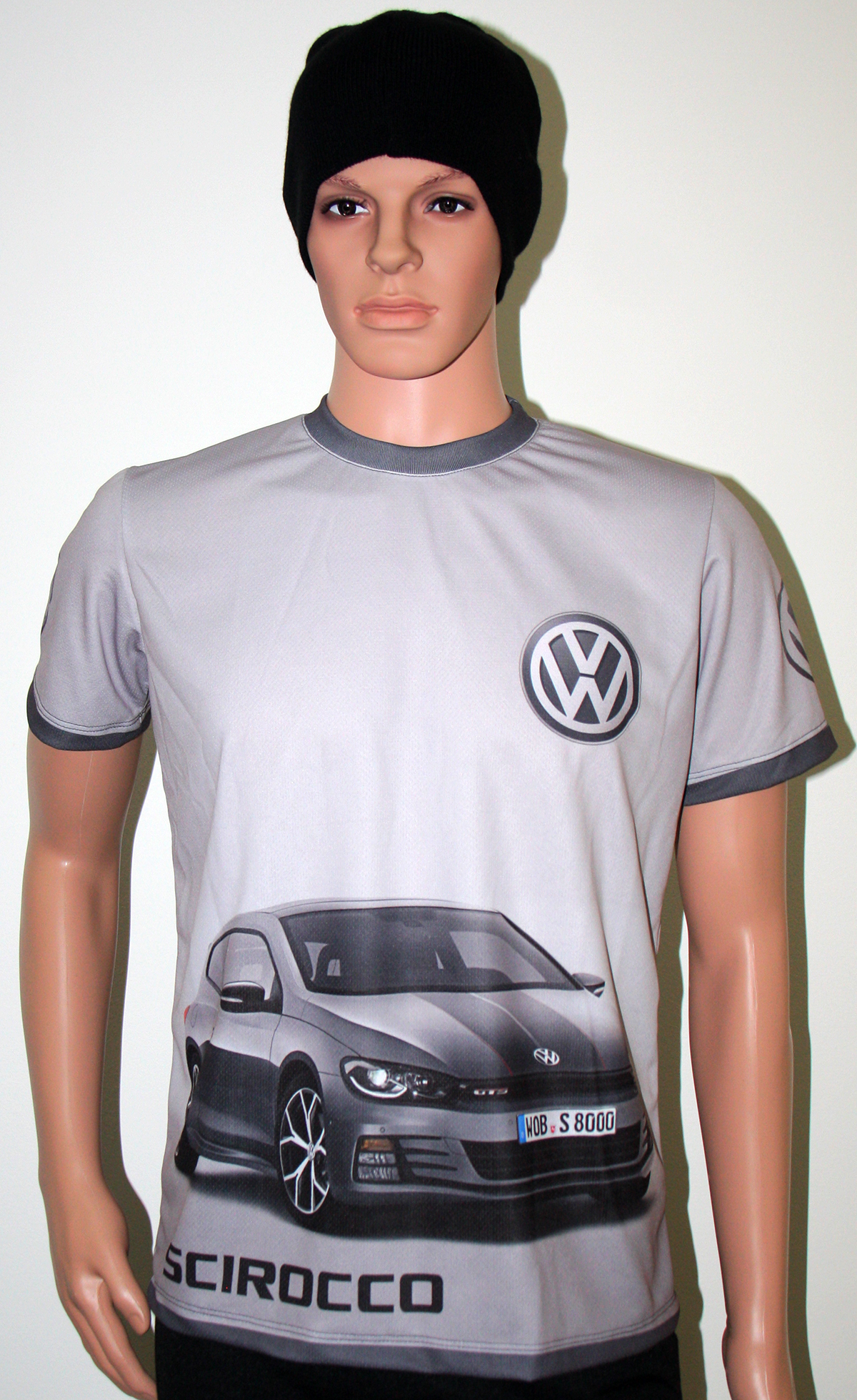 vw scirocco tshirt with logo and allover printed picture