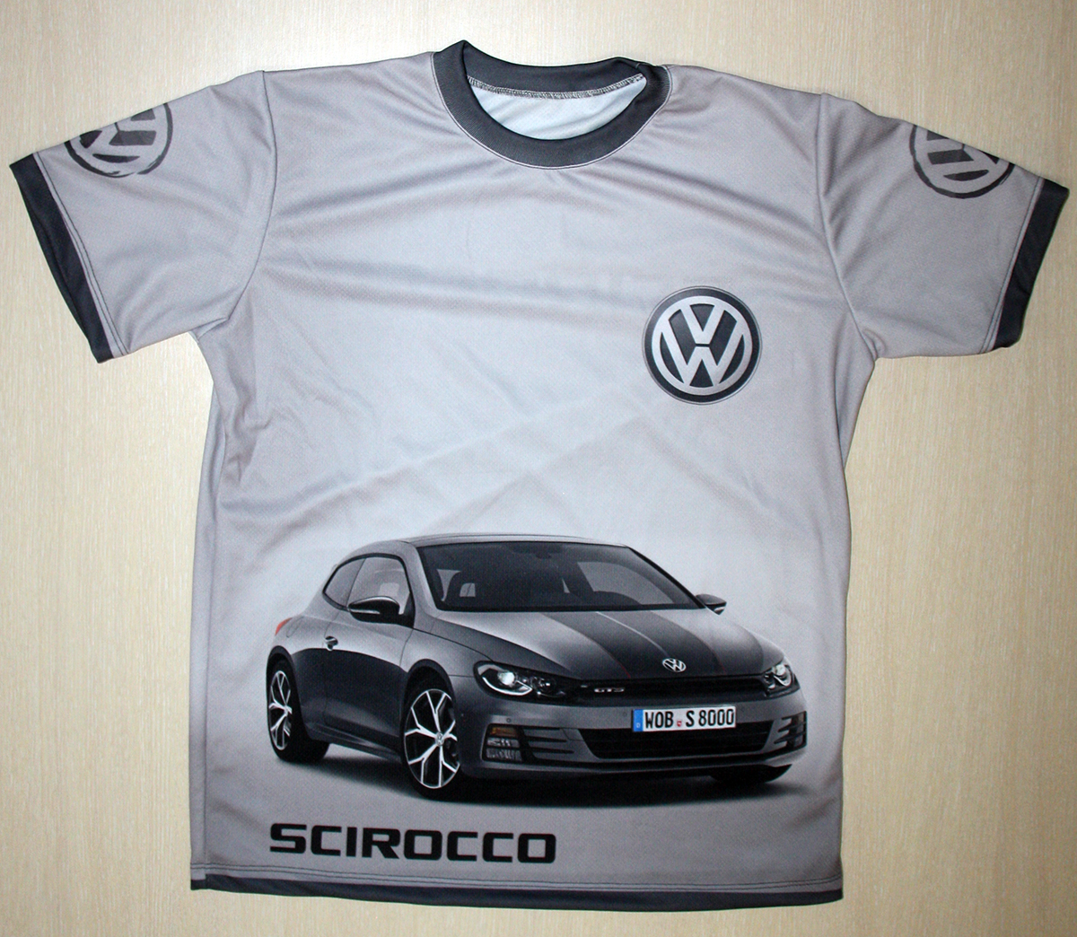 vw scirocco t shirt with logo and all over printed picture. Black Bedroom Furniture Sets. Home Design Ideas