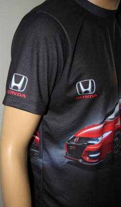 honda type r t shirt with logo and all over printed. Black Bedroom Furniture Sets. Home Design Ideas