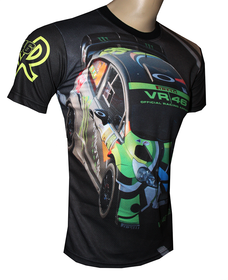 valentino rossi 46 t shirt with logo and all over printed. Black Bedroom Furniture Sets. Home Design Ideas