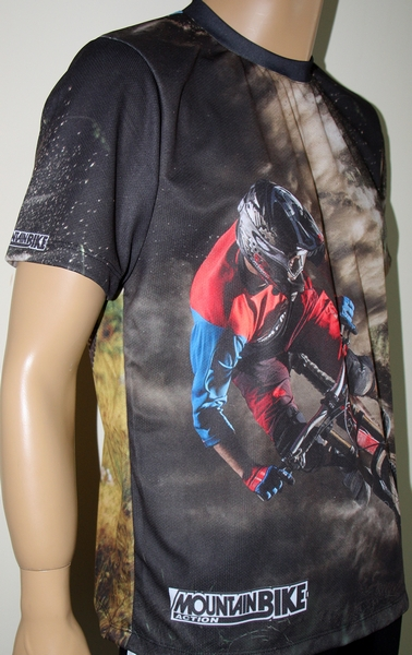 Mountain Bike T Shirt With Logo And All Over Printed