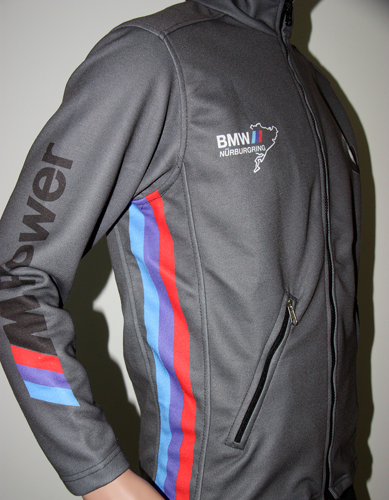 Race Car Jackets >> BMW NURBURGRING GREY JACKET - T-shirts with all kind of auto, moto, cartoons and music themes