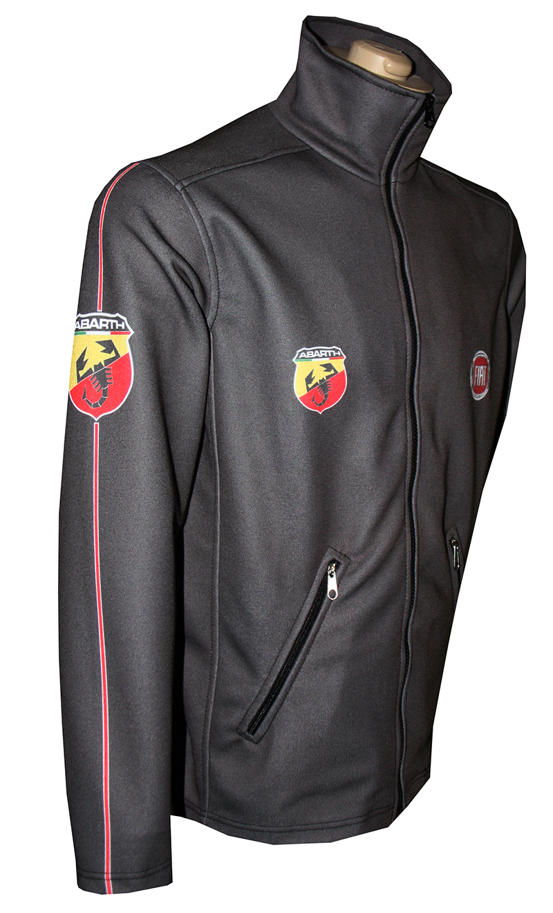 Fiat Abarth Zip Jacket T Shirts With All Kind Of Auto