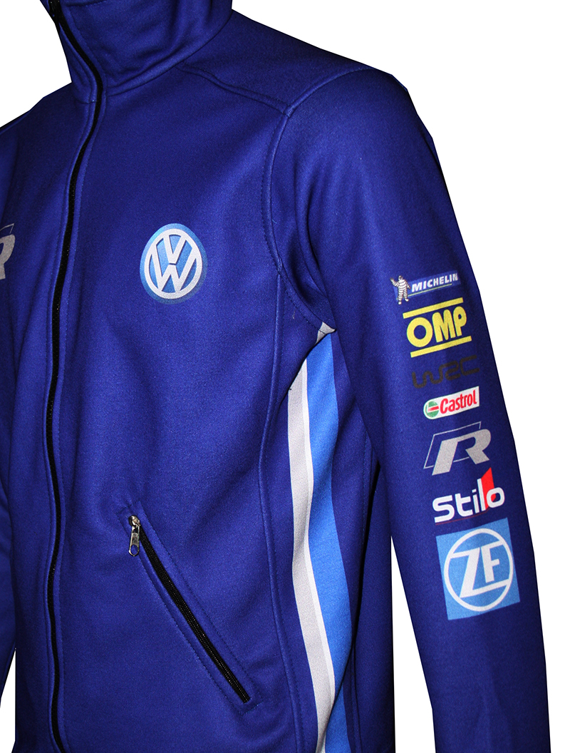 Vw Blue Zip Jacket T Shirts With All Kind Of Auto Moto