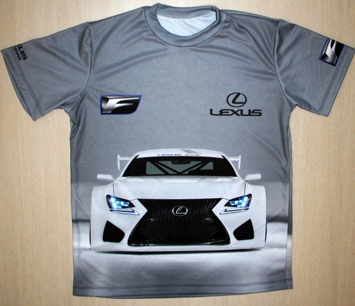 Lexus RC F GT3 t-shirt with logo and all-over printed picture - T-shirts with all kind of auto ...