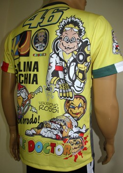 Valentino Rossi T Shirt With Logo And All Over Printed Picture T