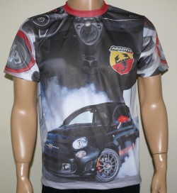 fiat abarth 500 t shirt motorsport racing