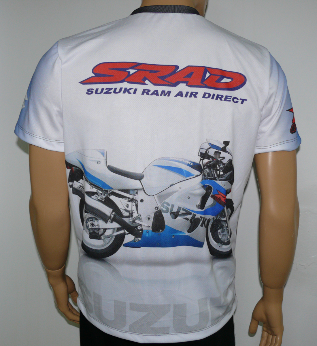 suzuki srad t shirt with logo and all over printed picture. Black Bedroom Furniture Sets. Home Design Ideas