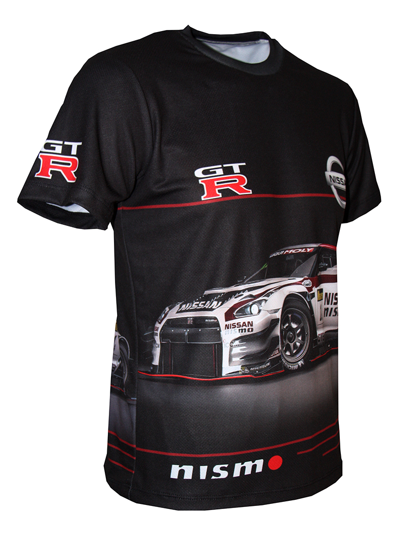 City Mini Gt >> Nissan GT-R t-shirt with logo and all-over printed picture - T-shirts with all kind of auto ...