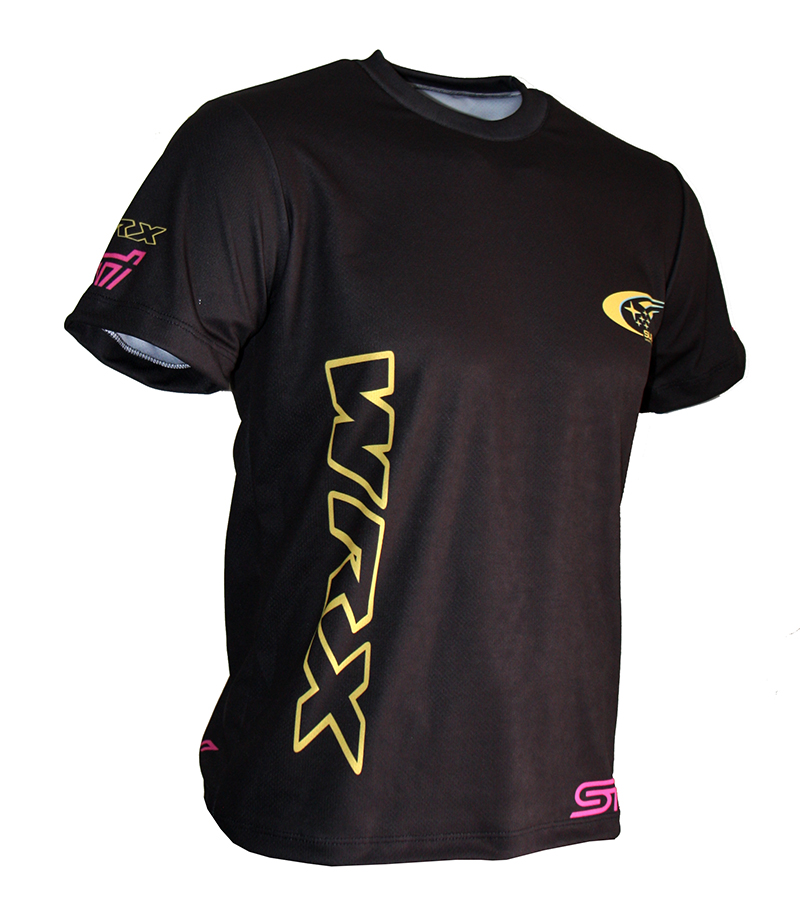 Subaru Wrx T Shirt With Logo And All Over Printed Picture