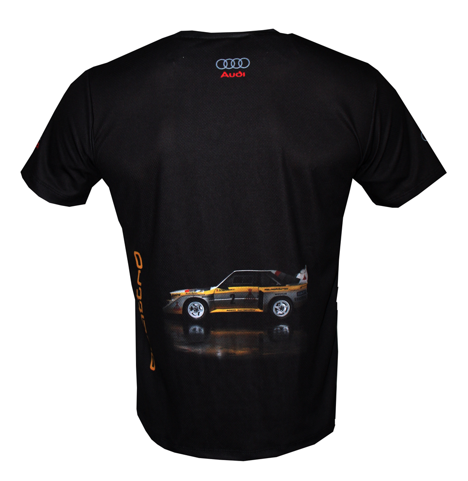 Audi Sport Rally Ur Quattro Group B T Shirt: Audi Group B T-shirt With Logo And All-over Printed