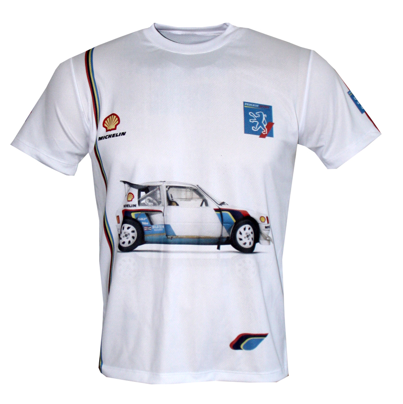 peugeot 205 t16 t shirt with logo and all over printed picture t shirts with all kind of auto. Black Bedroom Furniture Sets. Home Design Ideas