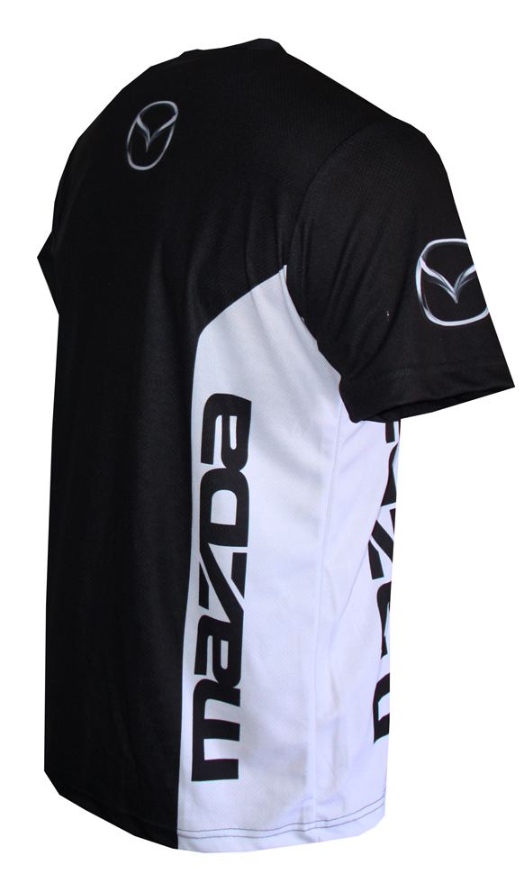 Mazda T Shirt With Logo And All Over Printed Picture T