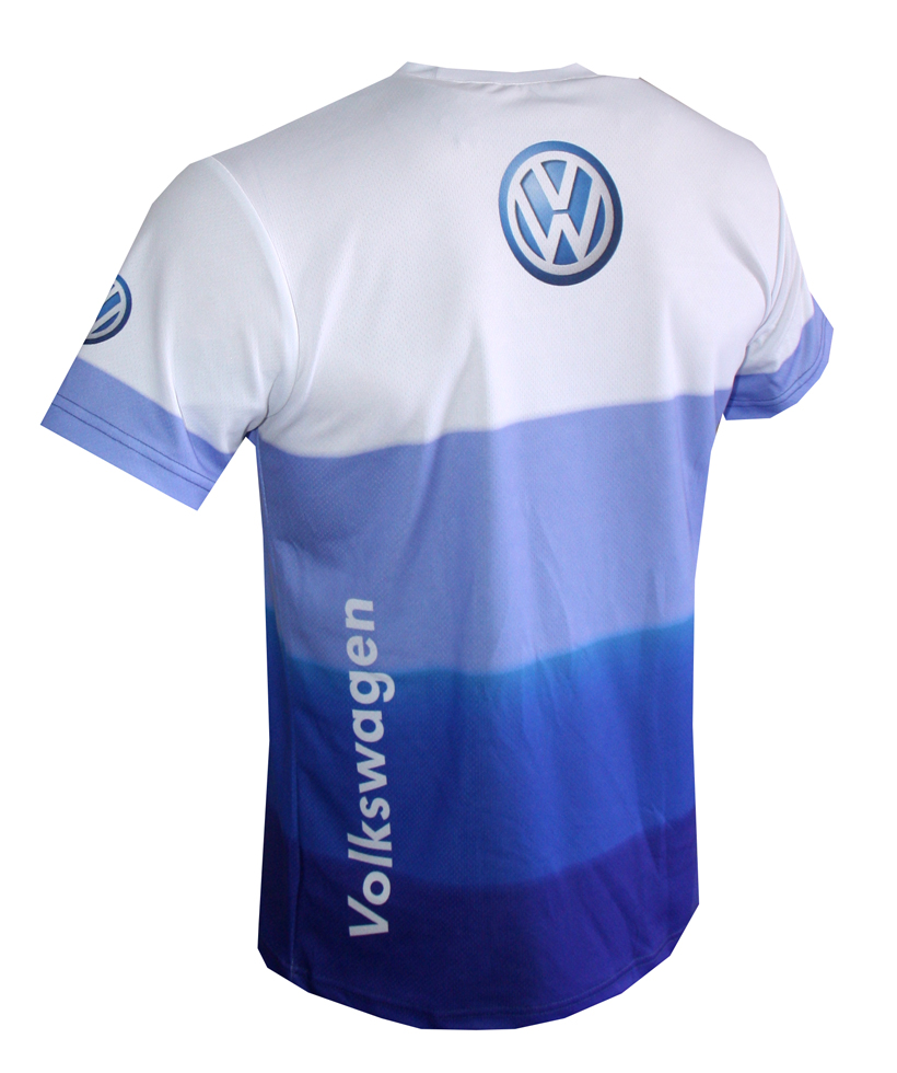 VW t-shirt with logo and all-over printed picture - T-shirts with all kind of auto, moto ...
