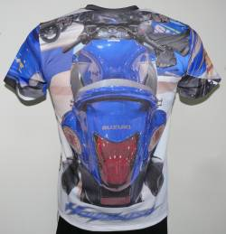 suzuki hayabusa t-shirt with logo and all-over printed picture - t