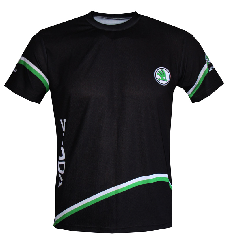 Skoda T Shirt With Logo And All Over Printed Picture T