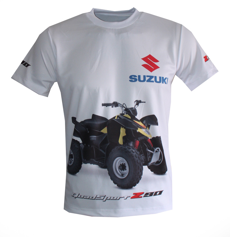 suzuki z90 t shirt with logo and all over printed picture t shirts with all kind of auto moto. Black Bedroom Furniture Sets. Home Design Ideas