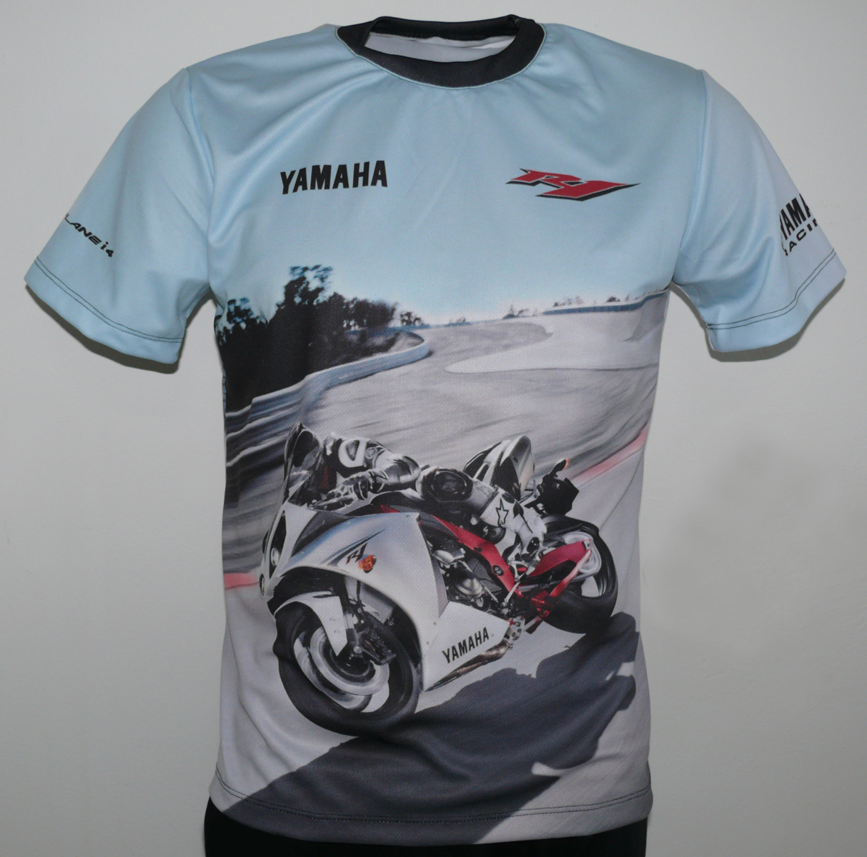 yamaha yzf r1 2009 t shirt with logo and all over printed picture t shirts with all kind of. Black Bedroom Furniture Sets. Home Design Ideas