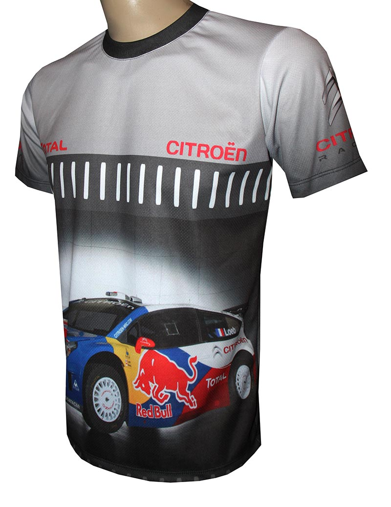 Citroen Wrc T Shirt With Logo And All Over Printed Picture