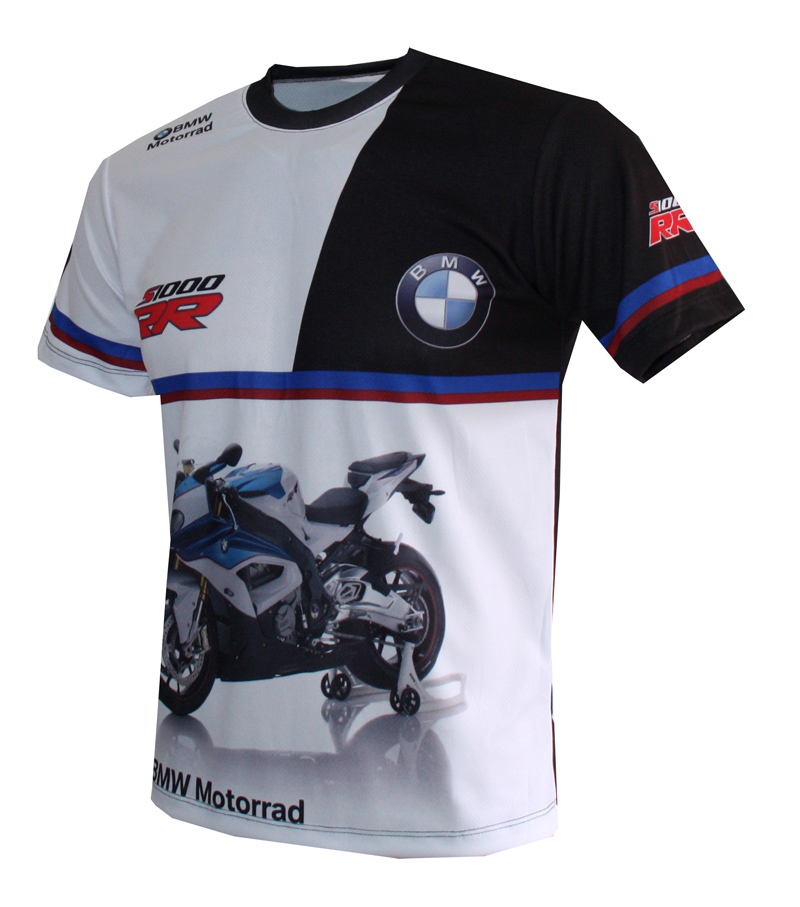 Bmw S1000rr R T Shirt With Logo And All Over Printed