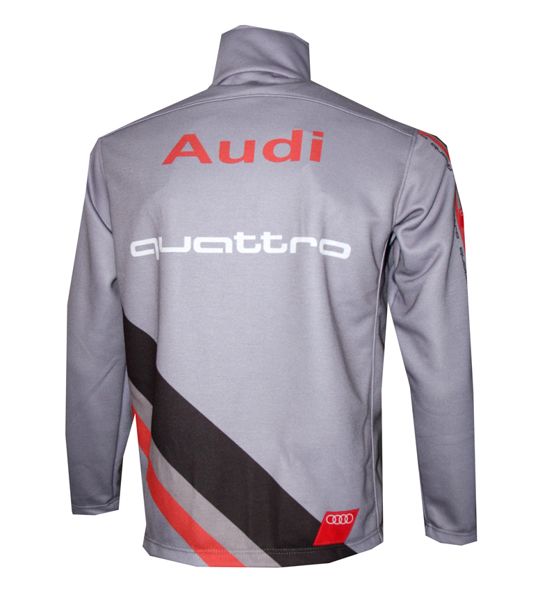 audi quattro grey zip jacket t shirts with all kind of. Black Bedroom Furniture Sets. Home Design Ideas