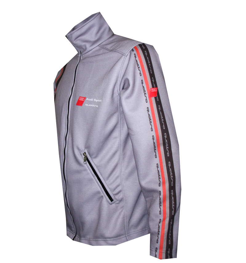 audi quattro grey zip jacket t shirts with all kind of auto moto cartoons and music themes. Black Bedroom Furniture Sets. Home Design Ideas