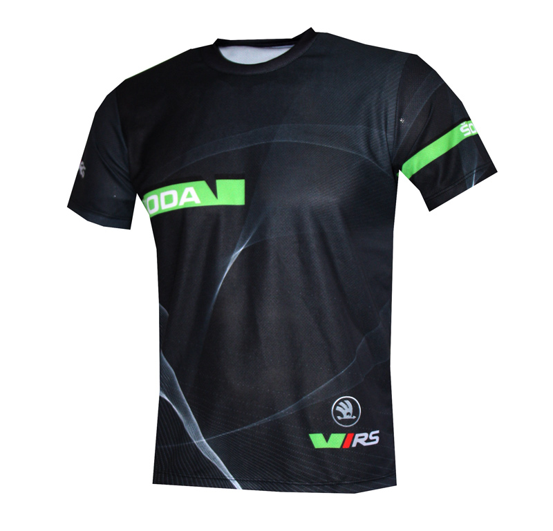 Skoda Rs T Shirt With Logo And All Over Printed Picture