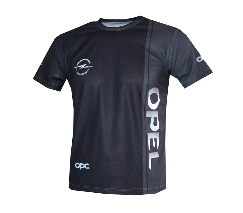 Opel Opc T Shirt With Logo And All Over Printed Picture