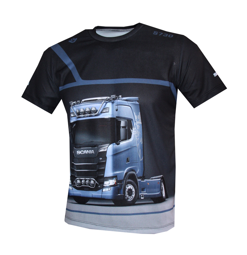 Scania t-shirt with logo and all-over printed picture - T-shirts with all kind of auto, moto ...