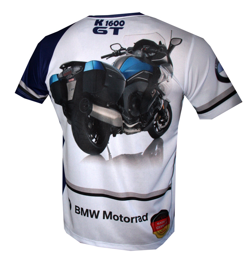Bmw K1600gt T Shirt With Logo And All Over Printed Picture