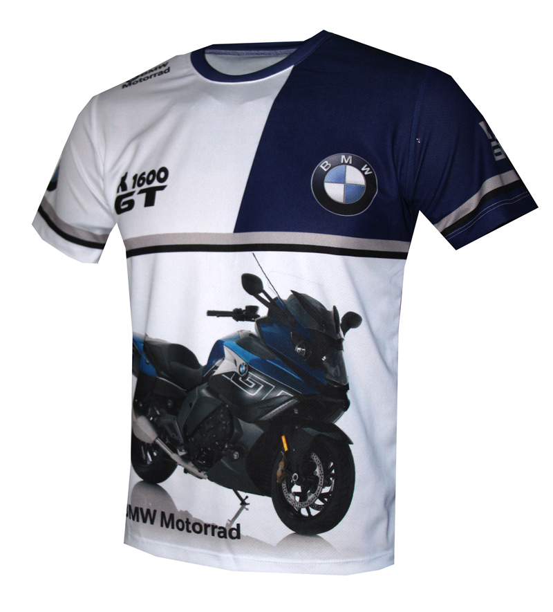 bmw k1600gt t shirt with logo and all over printed picture. Black Bedroom Furniture Sets. Home Design Ideas