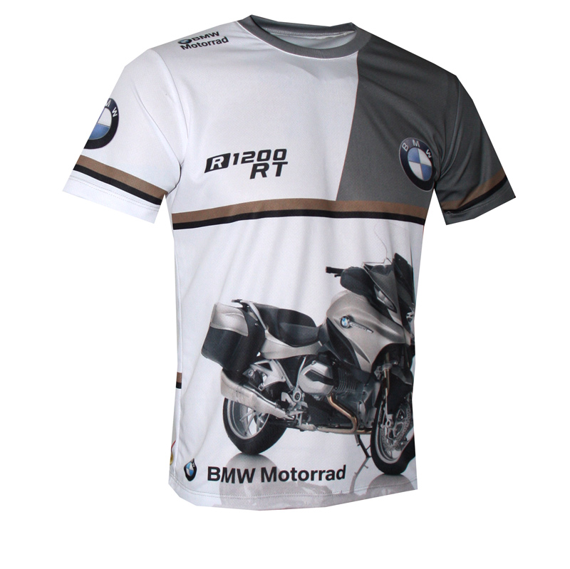Bmw R 1200 Rt T Shirt With Logo And All Over Printed Picture T Shirts With All Kind Of Auto