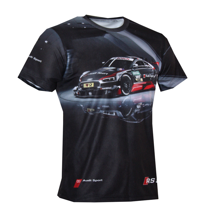 audi rs5 t shirt with logo and all over printed picture. Black Bedroom Furniture Sets. Home Design Ideas