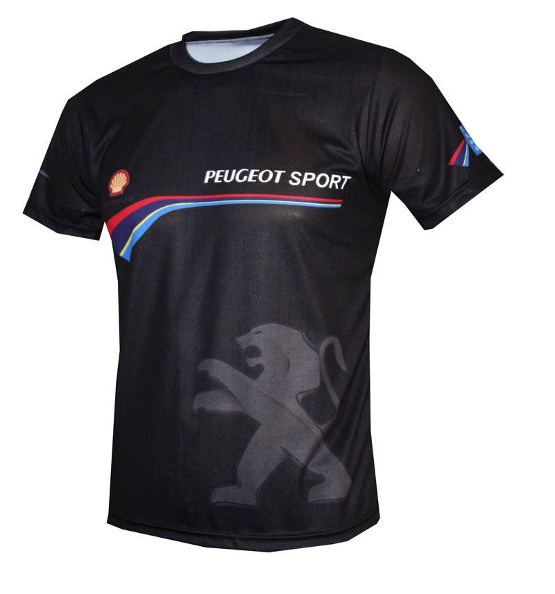 peugeot t shirt with logo and all over printed picture t shirts with all kind of auto moto. Black Bedroom Furniture Sets. Home Design Ideas