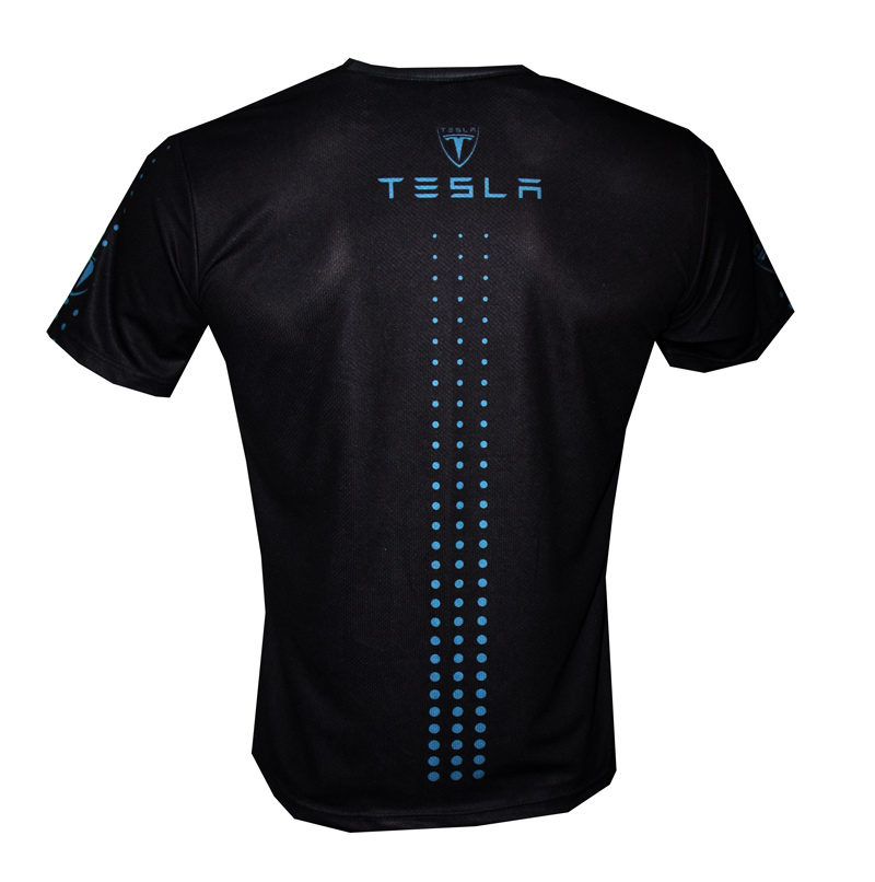 Tesla t-shirt with logo and all-over printed picture - T ...