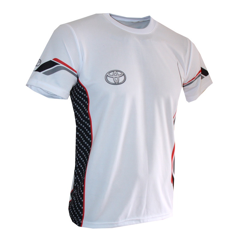 Toyota t-shirt with logo and all-over printed picture - T-shirts with all kind of auto, moto ...