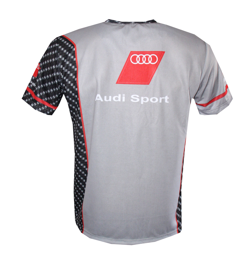 audi t shirt with logo and all over printed picture t shirts with all kind of auto moto. Black Bedroom Furniture Sets. Home Design Ideas