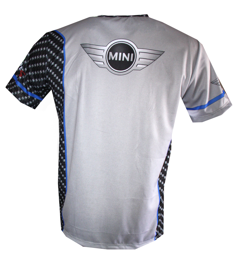 Mini Cooper t-shirt with logo and all-over printed picture - T-shirts with all kind of auto ...