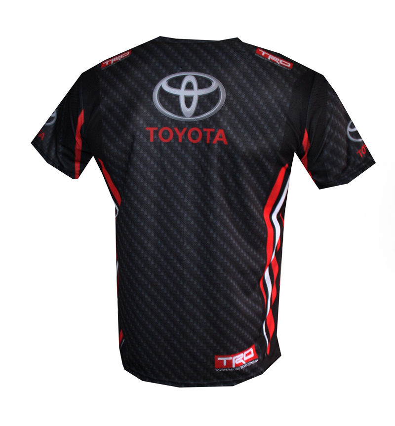Toyota t shirt with logo and all over printed picture t for Warson motors t shirt
