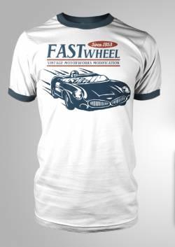 retro american motorsport racing tee