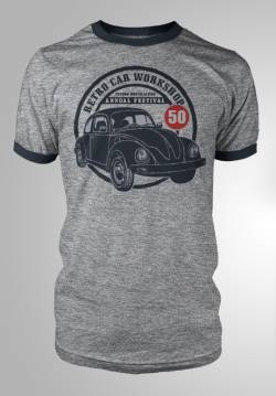 retro car meeting show t shirt camiseta