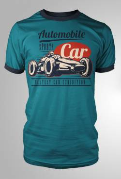retro formula 1 car t shirt