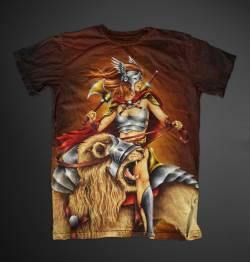 lion warrior fight battle tshirt