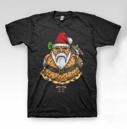 santa claus christmas funny pizza character shirt